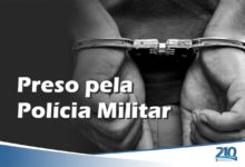 Preso pela Polícia Militar
