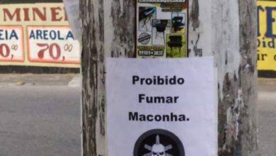 Photo of Aviso para não fumar maconha é divulgado em diversos postes em Bento Ribeiro
