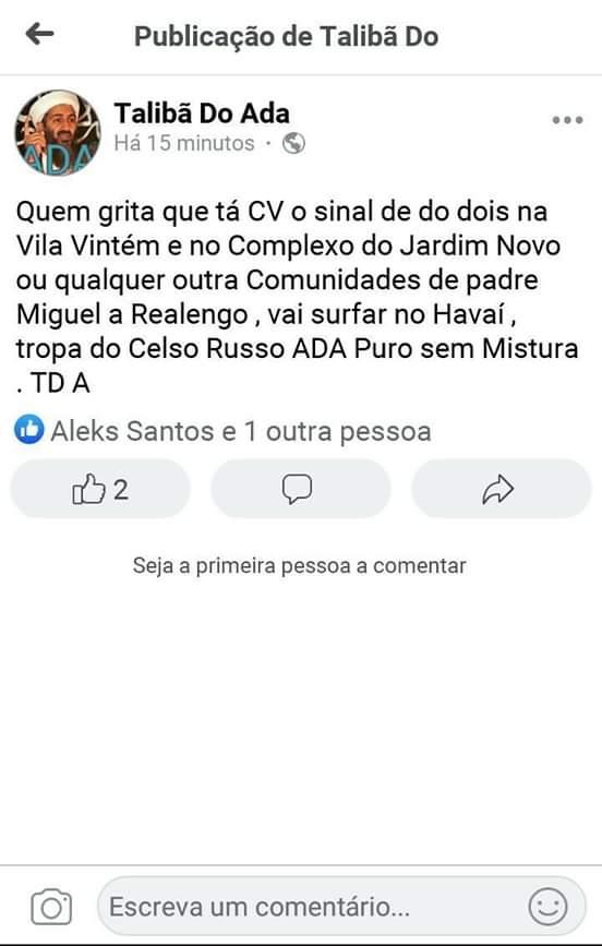 Photo of Boato de que favelas da ADA na Zona Oeste viraram CV é falso