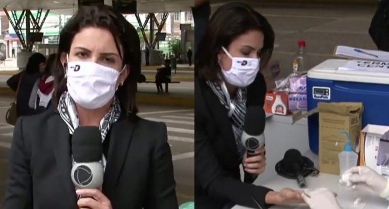 Photo of Repórter da Record faz teste ao vivo e descobre que está com coronavírus