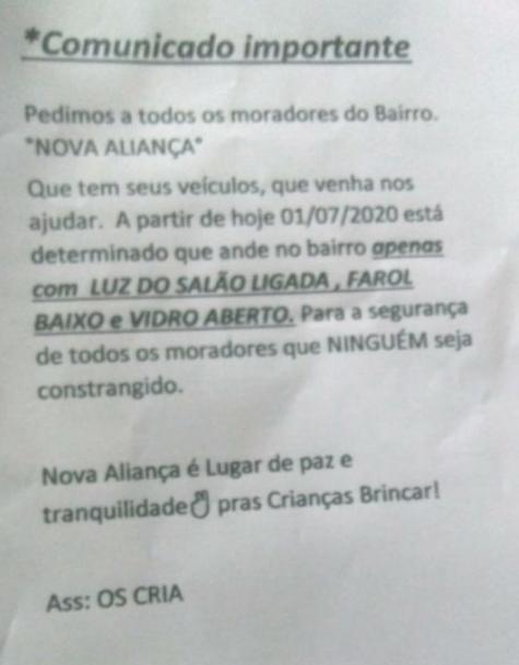 Photo of Tráfico impõe regras de conduta a moradores de bairro de Rio das Ostras